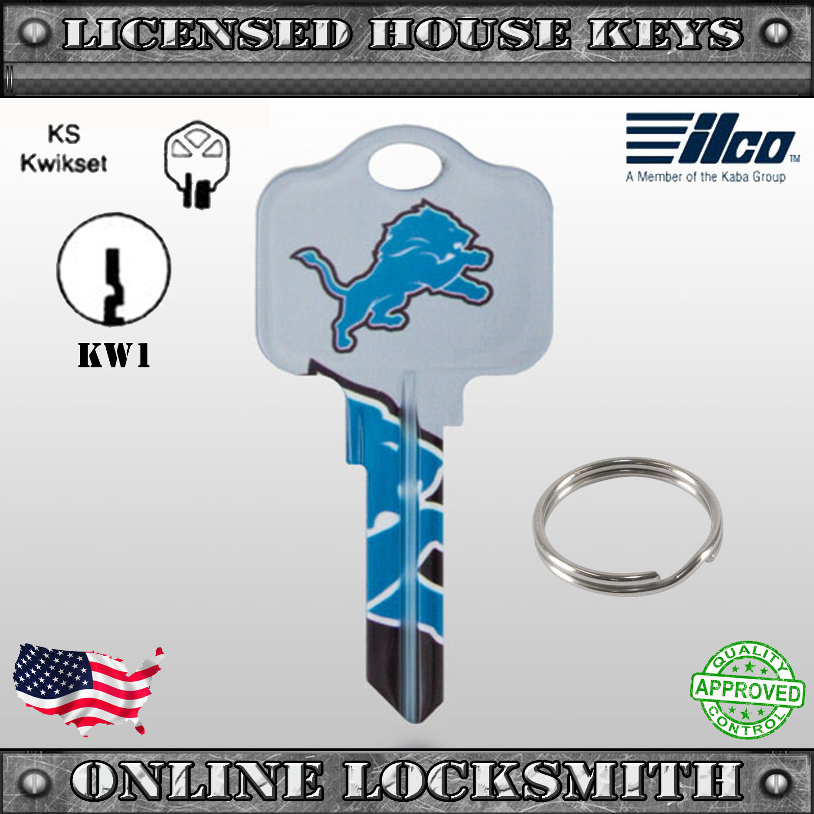 separation shoes f3f33 1824c KW1 - Uncut Officially NFL Licensed Key Detroit Lions