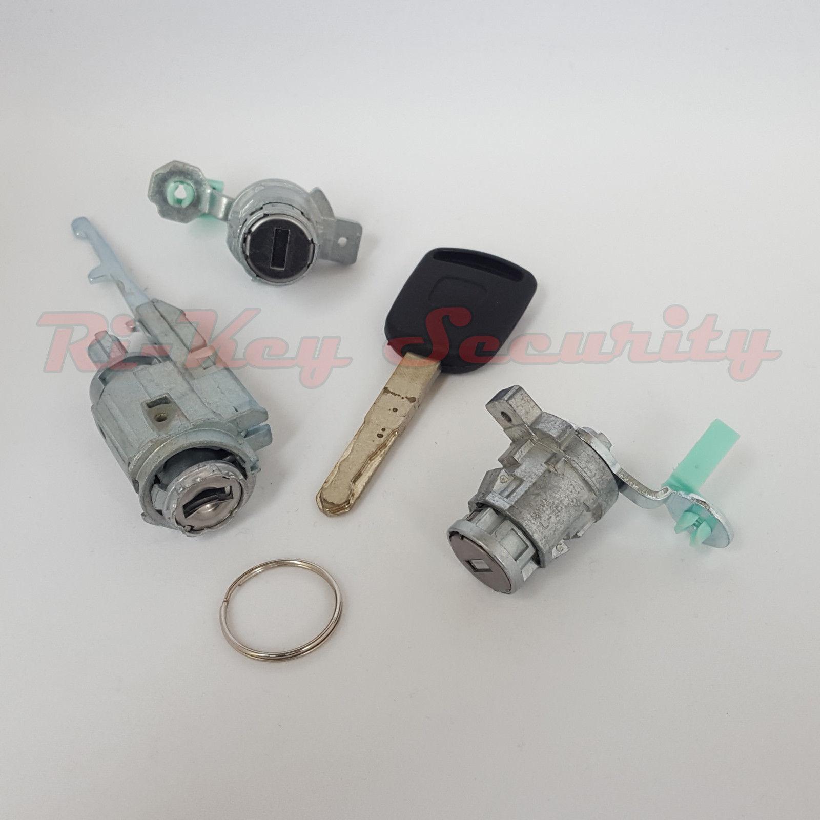 Ignition Switch Cylinder 2 Door Lock Set And Matching Transponder Key For Honda Element