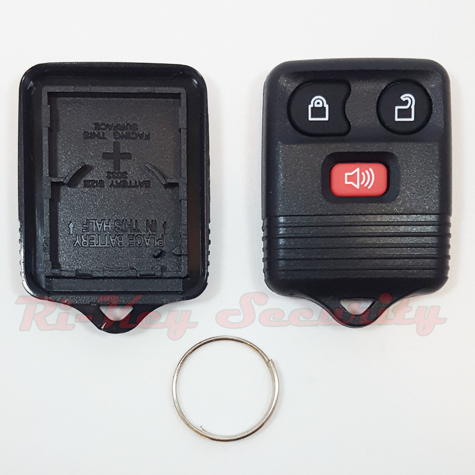 Empty Remote Alarm Replacement Shell Case For Ford 4