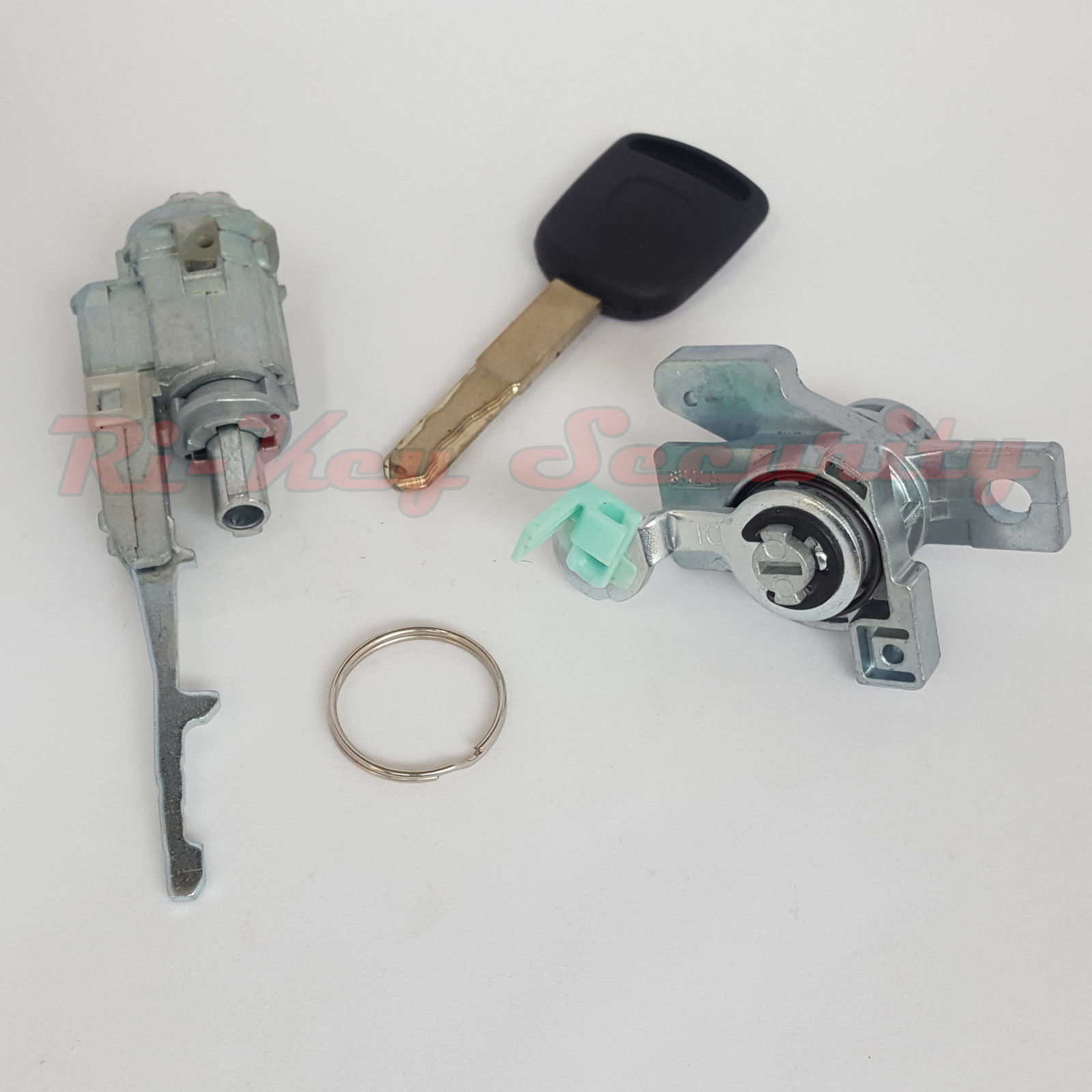 Ignition Switch Cylinder and Door Lock Set For Honda Odyssey 2005-2010 With  Chipped Key