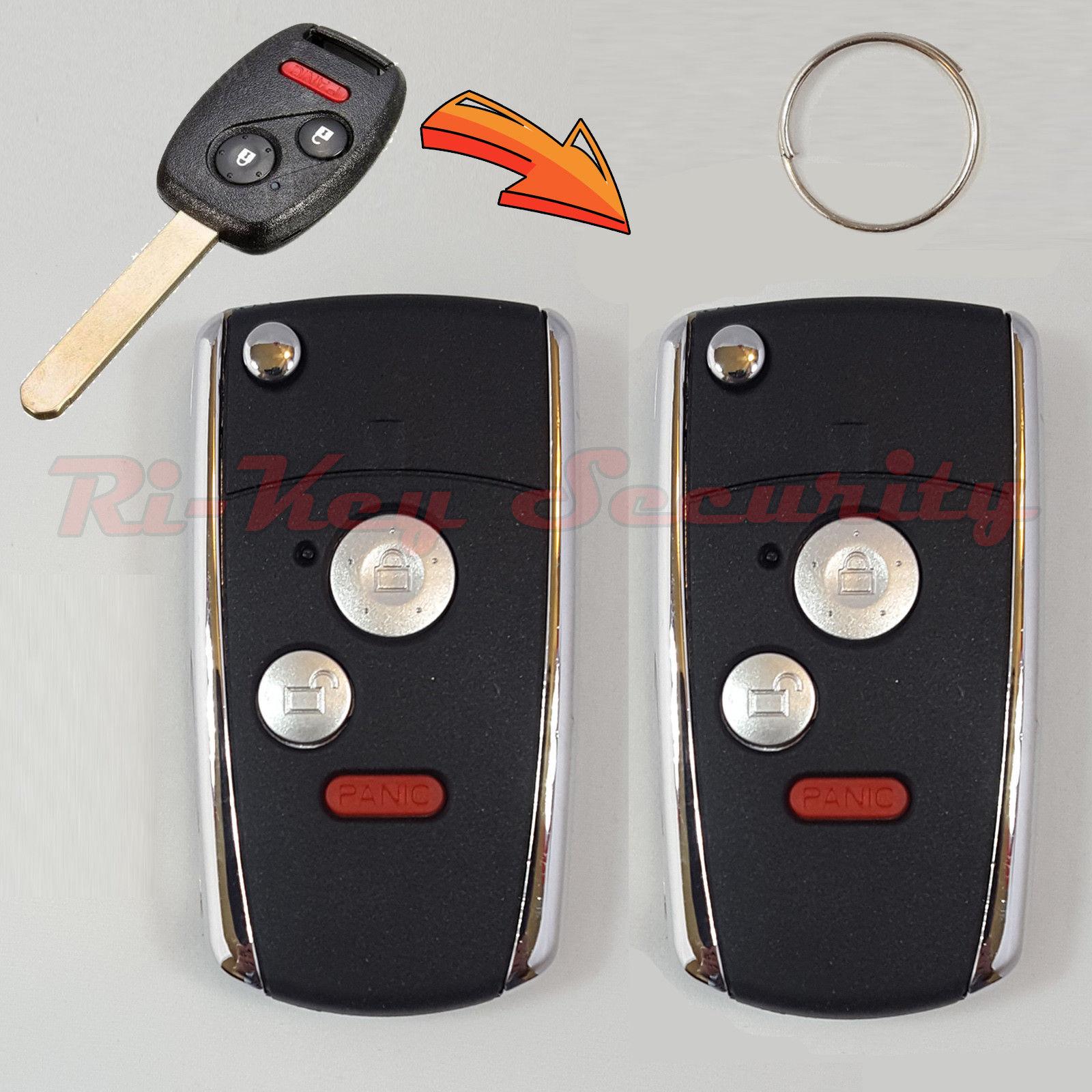 2 New Style Flip Remote key For Honda Vehicles Keyless Entry Transmitter  Chip FOB