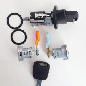 Ford Ignition Switch Cylinder Lock, 2 Door Lock Cylinders 2 OEM Transponder Keys