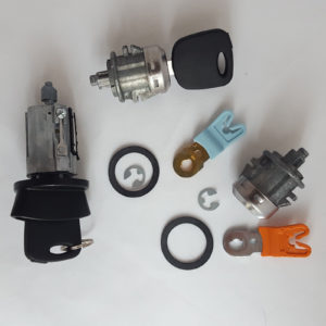 Ford Ignition Switch Cylinder, 2 Door Lock Cylinders 2 Transponder Chip Keys Set