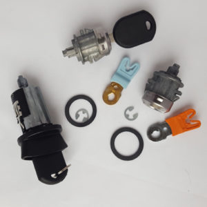 Ignition Switch Cylinder and 2 Door Lock Cylinders For Ford with 2 Chipped Keys
